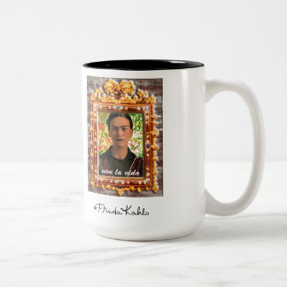 Frida Kahlo Reflejando Taza De Café De Dos Colores