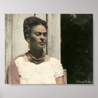Frida Kahlo se ruboriza fotografía Poster