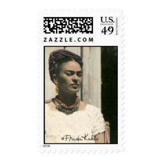Frida Kahlo se ruboriza fotografía Sello