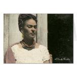 Frida Kahlo se ruboriza fotografía Tarjeta De Felicitación