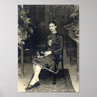 Frida Kahlo Seated Poster