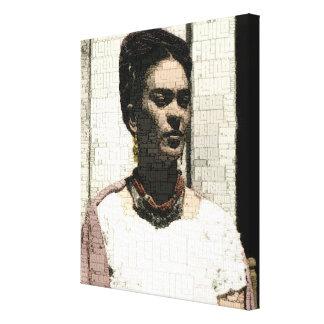 Frida Kahlo Textile Portrait Gallery Wrap Canvas
