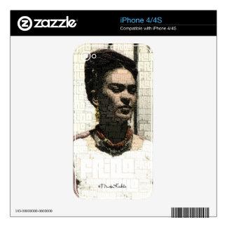 Frida Kahlo Textile Portrait iPhone 4S Skin