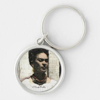 Frida Kahlo Textile Portrait Keychain