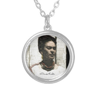 Frida Kahlo Textile Portrait Personalized Necklace