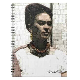 Frida Kahlo Textile Portrait Note Book