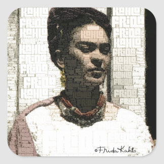Frida Kahlo Textile Portrait Square Sticker
