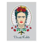 Frida Kahlo | Vintage Floral Postcard