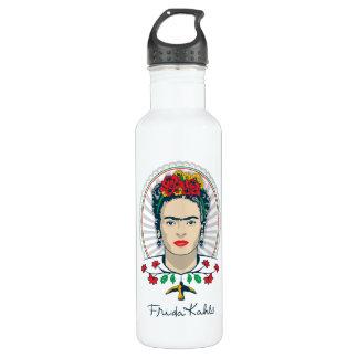 Frida Kahlo | Vintage Floral Stainless Steel Water Bottle
