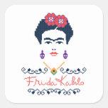 Frida Kahlo | Viva Mexico Square Sticker