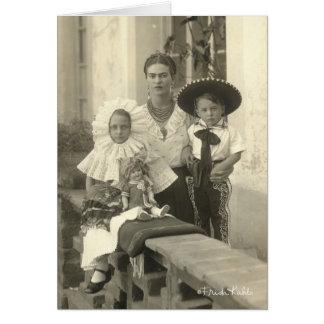 Frida Kahlo w/ Children Greeting Card