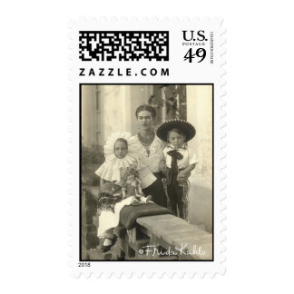 Frida Kahlo w/ Children Postage Stamp