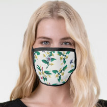 Frida Kahlo   White and Yellow Floral Pattern Face Mask