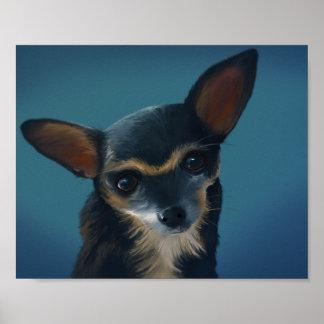 Frida la chihuahua - poster del arte de 8x10 Digit