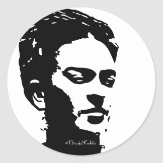 Frida Shadow Portrait Classic Round Sticker