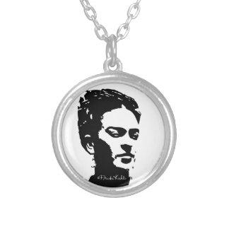Frida Shadow Portrait Round Pendant Necklace