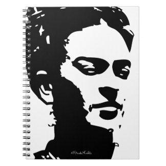 Frida Shadow Portrait Spiral Notebooks