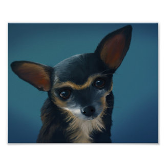 Frida The Chihuahua - 8x10 Digital Art Poster