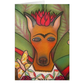 Frida with Butterfly Greeting Card