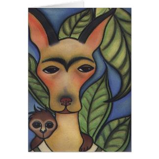 Frida with Monkey Card