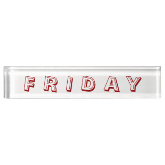 Friday Alphabet Soup Paperweight by Janz Desk Name Plate