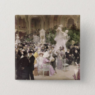 Friday at the French Artists' Salon, 1911 Pinback Button
