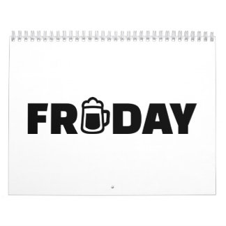 Friday beer wall calendar