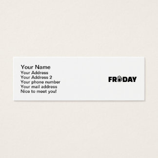 Friday beer mini business card