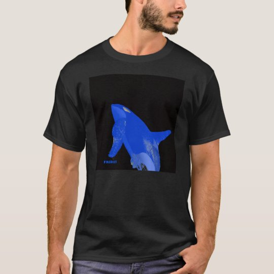 Friday Blue Orca Whale T-Shirt
