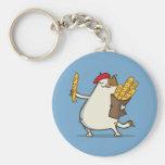 Friday Cat №3 Basic Round Button Keychain