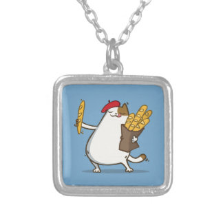 Friday Cat №3 Square Pendant Necklace