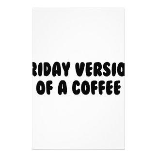 Friday Coffee Stationery