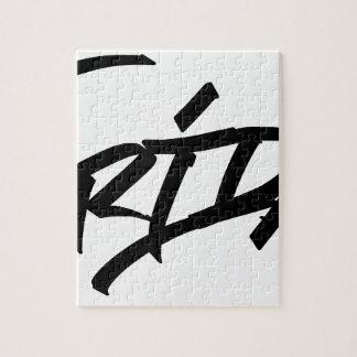 Friday graffiti tag jigsaw puzzle