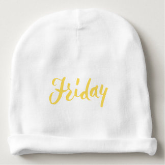 Friday Hand Lettering Design Baby Beanie