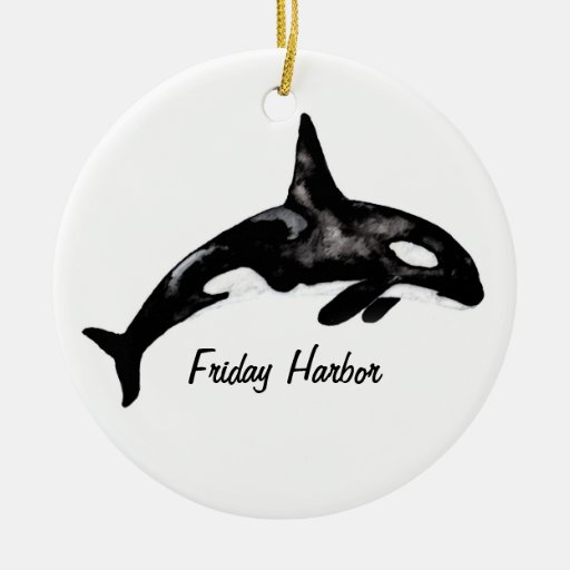 Friday Harbor Double-Sided Ceramic Round Christmas Ornament