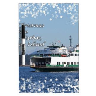 Friday Harbor Ferry Christmas Happy Holidays Dry-Erase Whiteboard