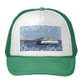 Friday Harbor Ferry Christmas Happy Holidays Trucker Hats