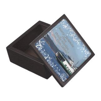 Friday Harbor Ferry Christmas Happy Holidays Premium Trinket Boxes
