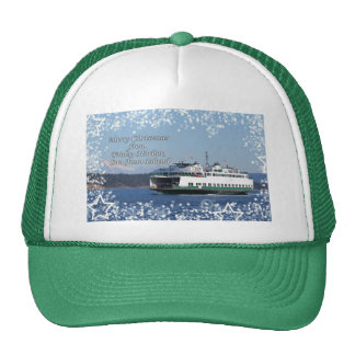 Friday Harbor Ferry Christmas Happy Holidays Trucker Hat