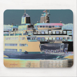 friday harbor ferry San juan island  | ferry land Mouse Pad