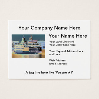 Friday Harbor Ferry San Juan Island - The Samish Business Card