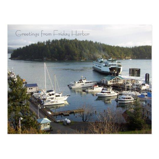 Friday Harbor greetings! Postcard