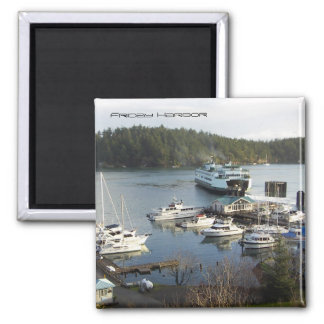 Friday Harbor 2 Inch Square Magnet