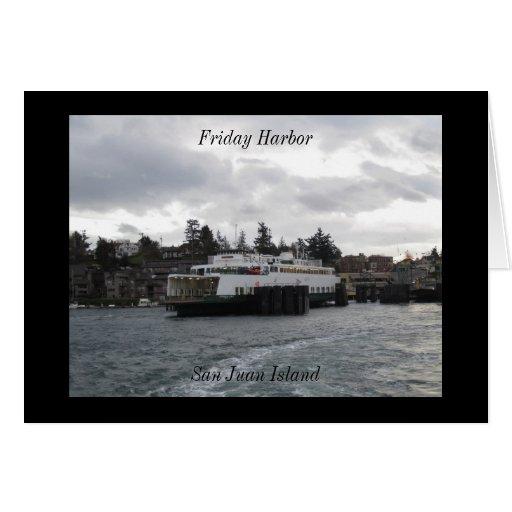 Friday Harbor, San Juan Island Greeting Card