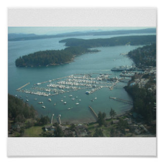 Friday Harbor WA from the air Poster