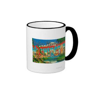 Friday Harbor, Washington - Large Letter Ringer Coffee Mug