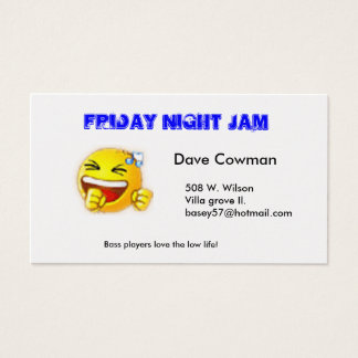 Friday Jam Buisness Cards