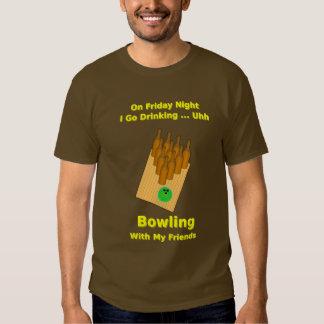 Friday Night Beer Bowler Shirt