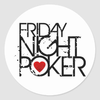 Friday Night Poker Classic Round Sticker