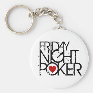 Friday Night Poker Keychain